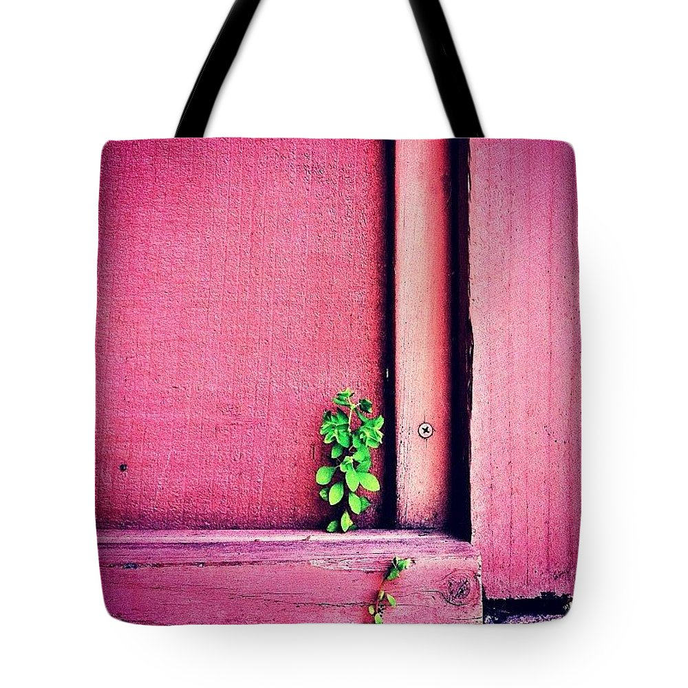 Pink Tote Bag featuring the photograph Determination by Julie Gebhardt
