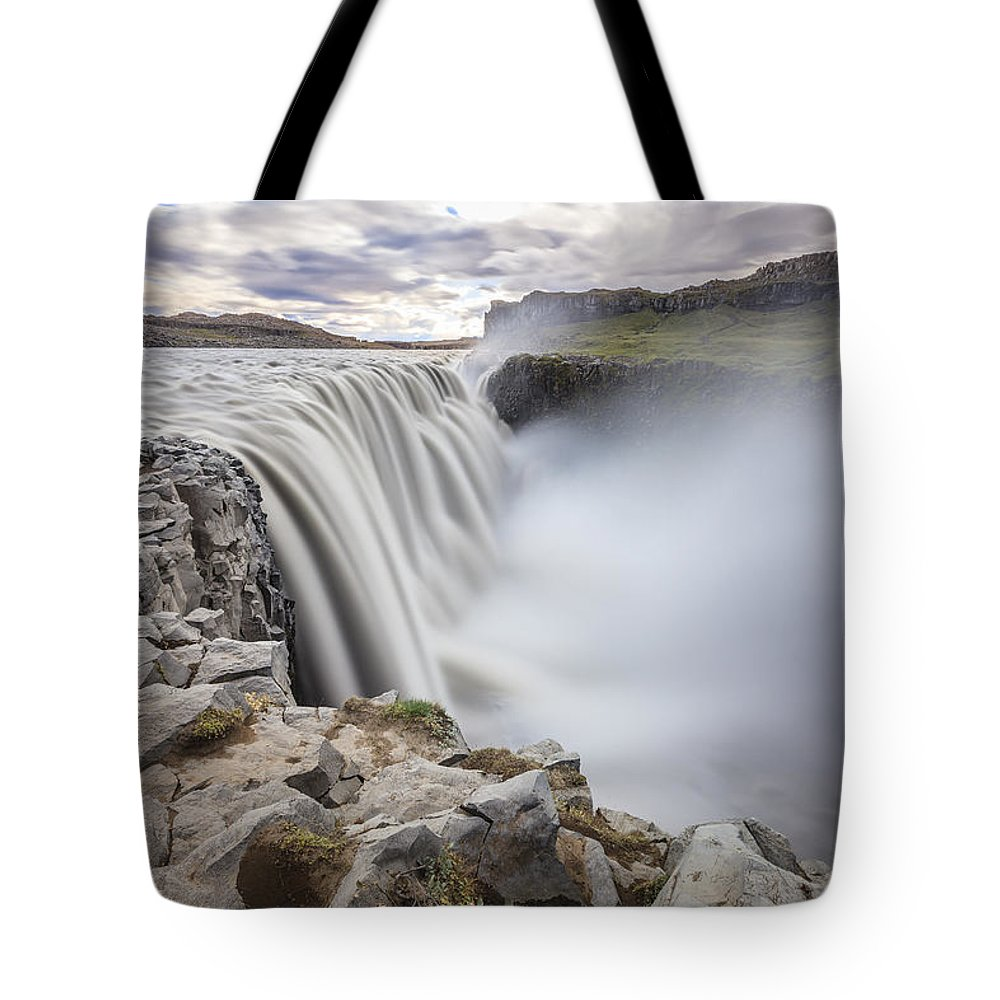 Dettifoss Tote Bag featuring the photograph Dettifoss by Alexey Stiop