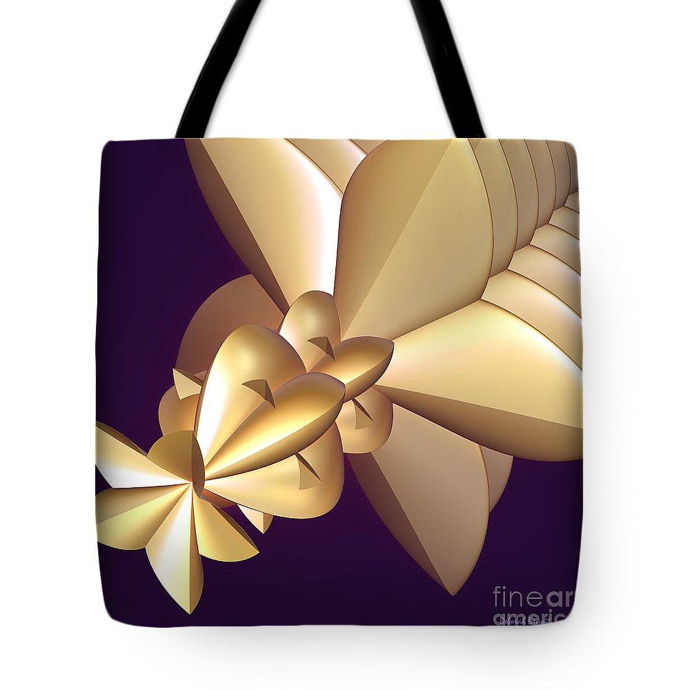 Incendia Tote Bag featuring the digital art Developing New Star by Deborah Benoit