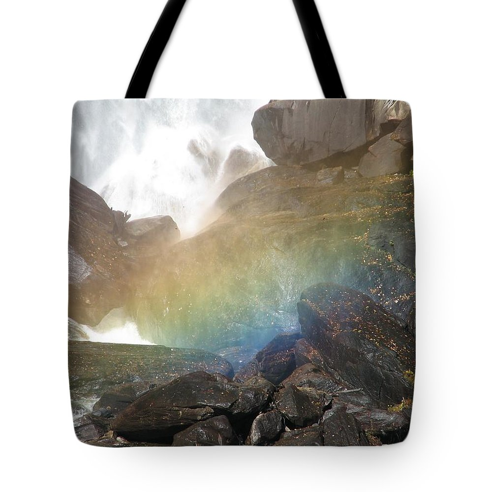 Devil's Fork Tote Bag featuring the photograph Devil's Rainbow by Kelly Mezzapelle