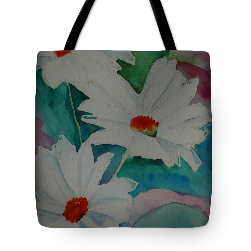 Daisies Tote Bag featuring the painting Devin's Dasies by Melinda Etzold