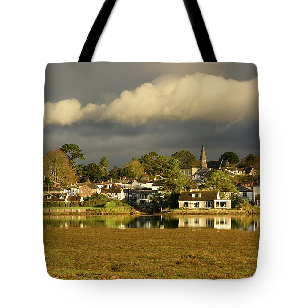 Stormy Weather Tote Bag featuring the photograph Devoran, Cornwall, Uk by Michael Brookes