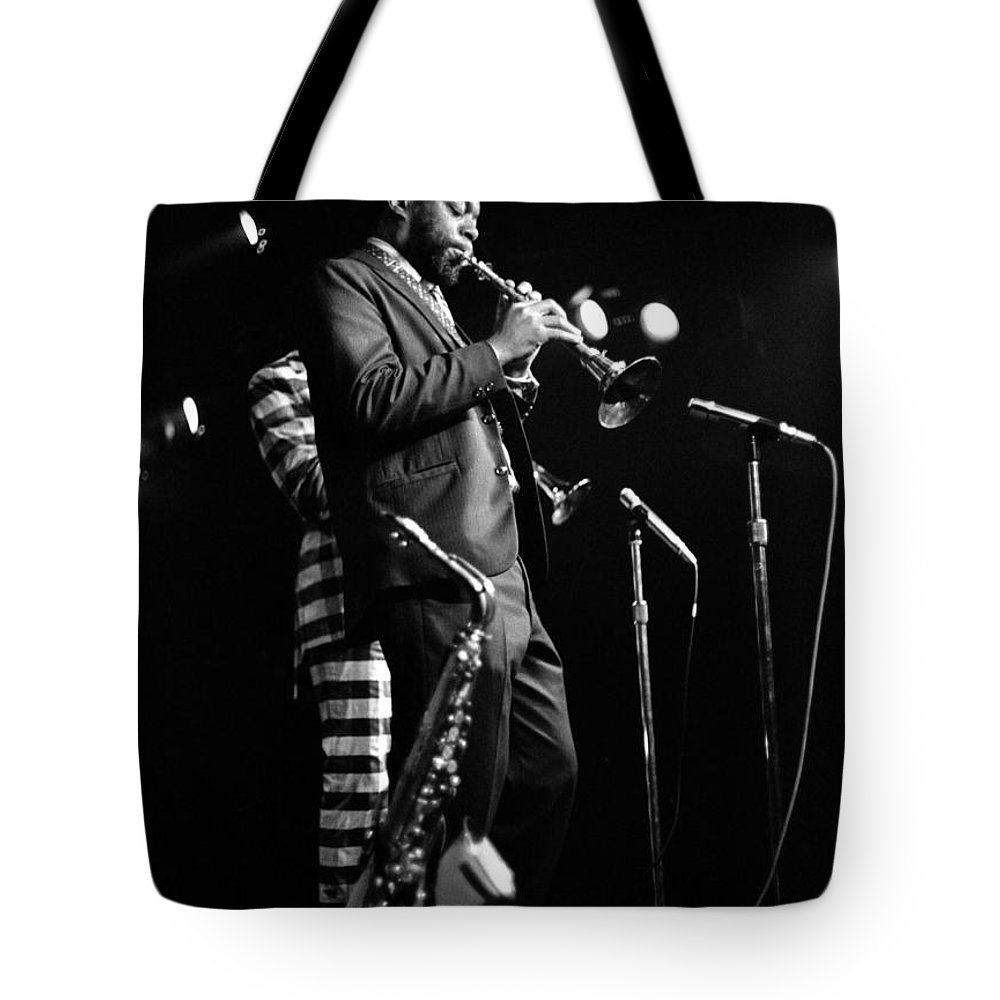 Ornette Coleman Tote Bag featuring the photograph Dewey Redman On Musette by Lee Santa