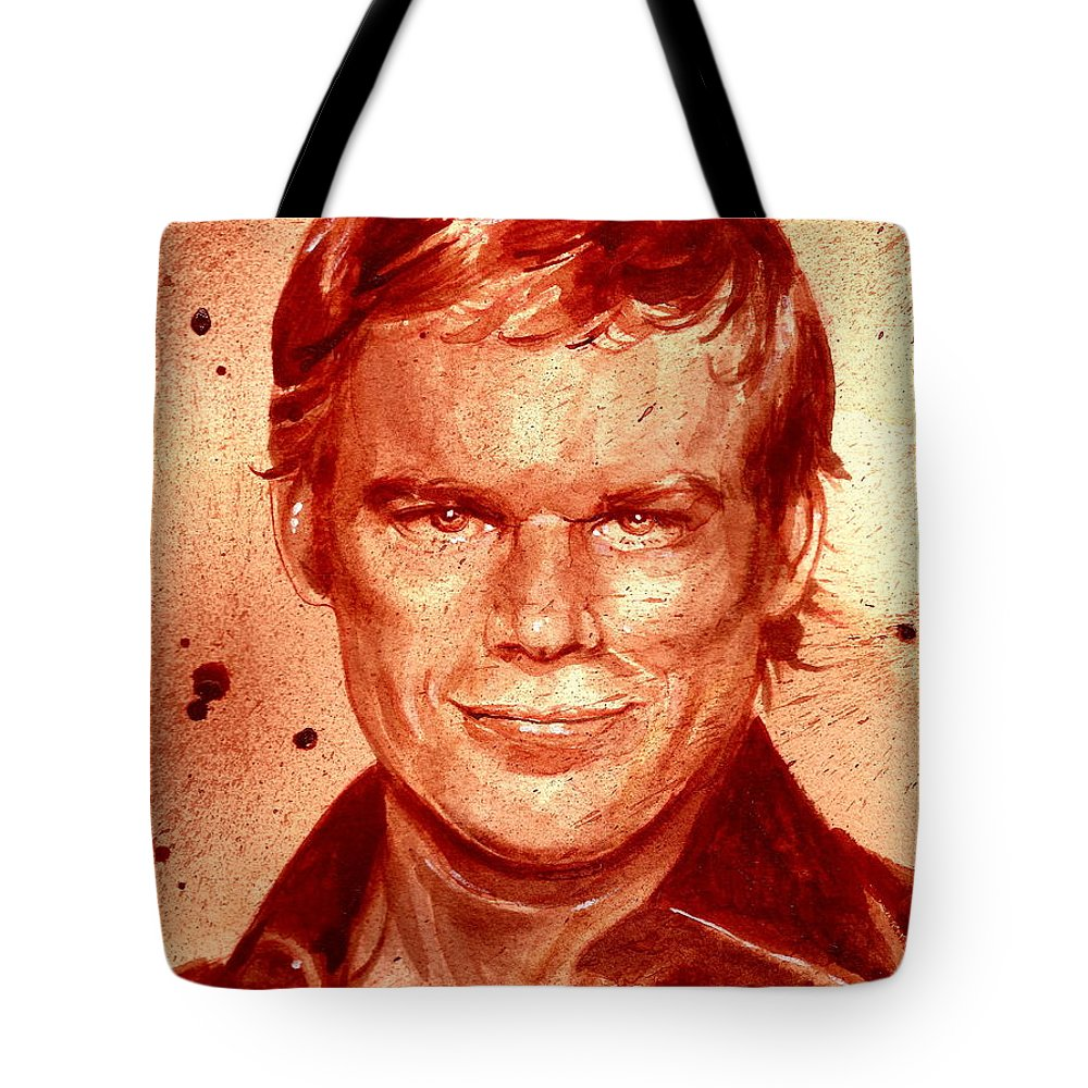 Dexter Tote Bag featuring the painting Dexter by Ryan Almighty