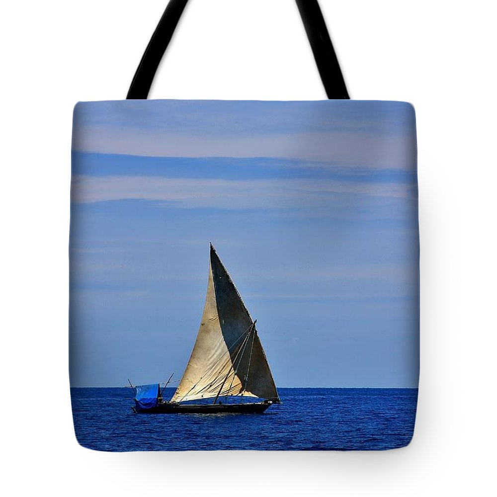 Dhow Tote Bag featuring the photograph Dhow On The Indian Ocean by Stacie Gary