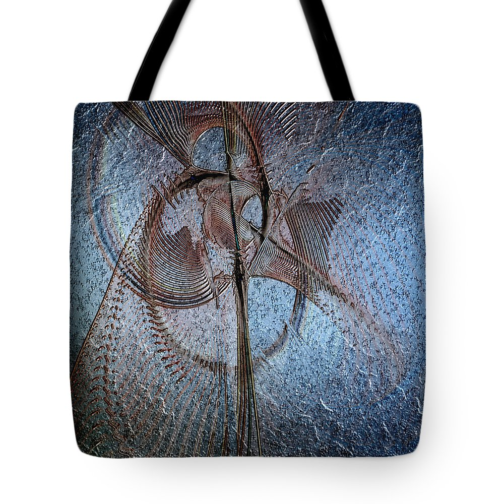 Abstract Tote Bag featuring the digital art Diachrony Of Altruism by Casey Kotas