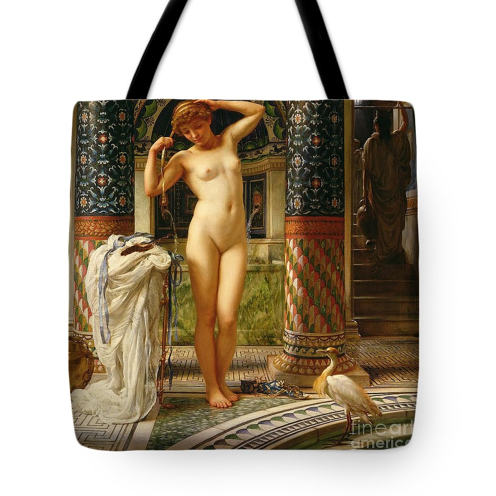 Diadumene Tote Bag featuring the painting Diadumene by Sir Edward John Poynter