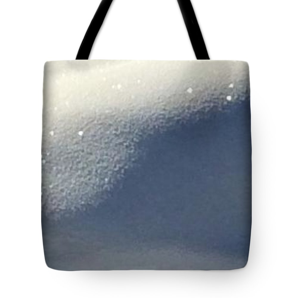 Snow Tote Bag featuring the painting Diamond Cliffs by Jennifer Lake