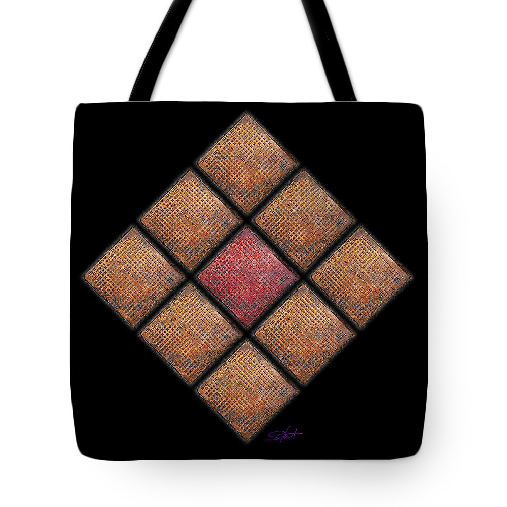 Urban Tote Bag featuring the photograph Diamond Red by Charles Stuart