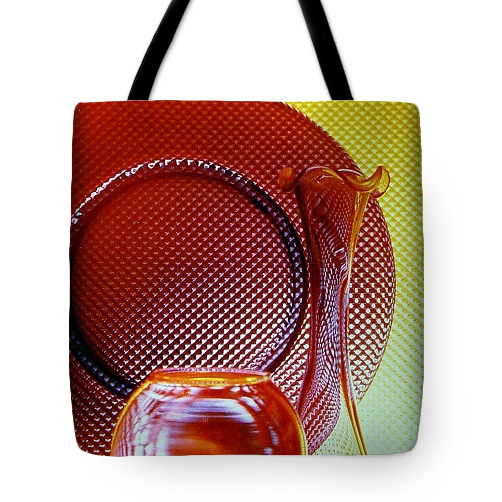 Glass Tote Bag featuring the photograph Diamonds In Glass by Marsha Elliott