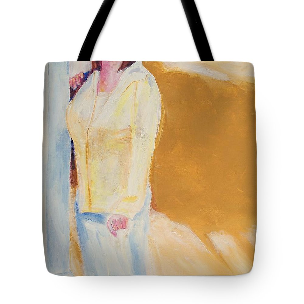 Portraits Tote Bag featuring the painting Diane by Eric Schiabor