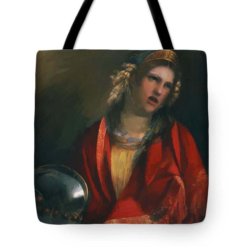 Didone Tote Bag featuring the painting Didone by Dossi Dosso