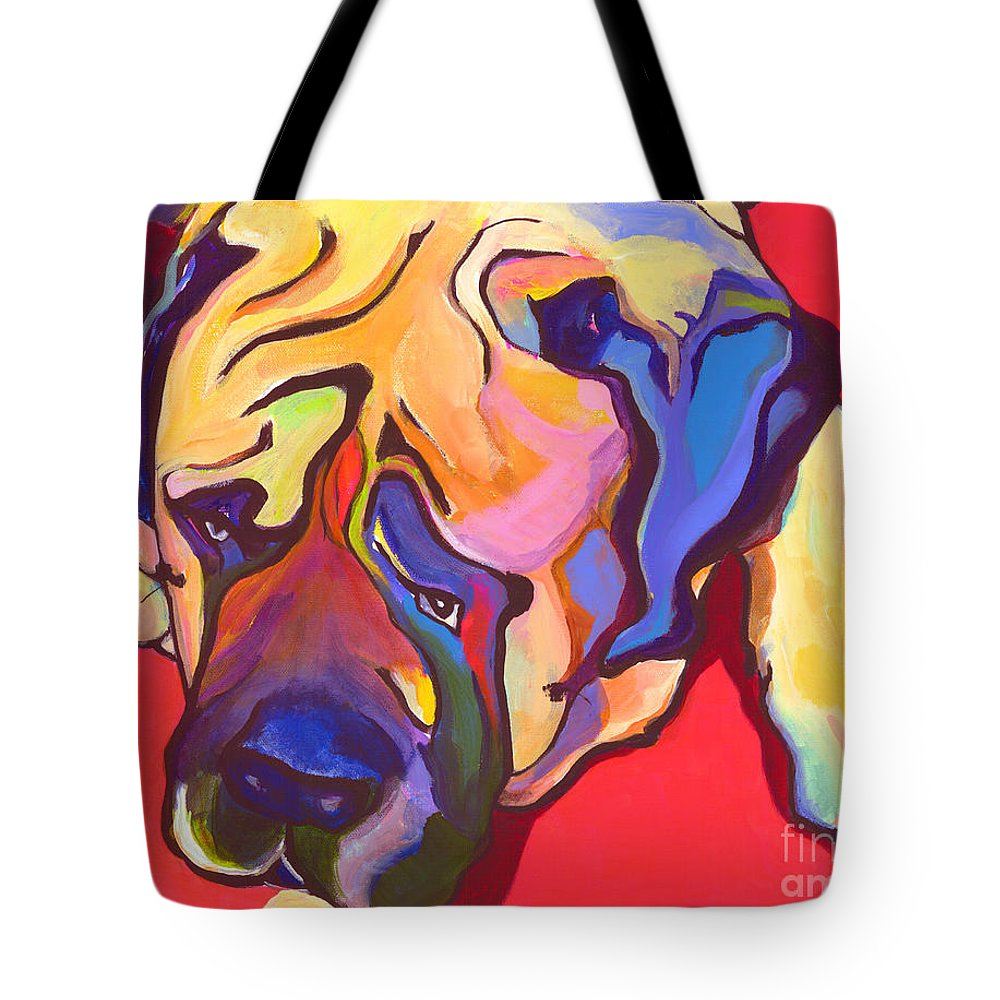 Mastiff Tote Bag featuring the painting Diesel  by Pat Saunders-White