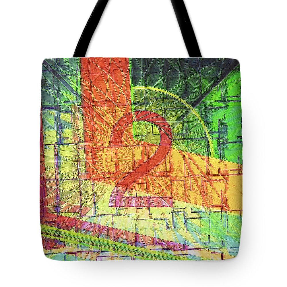 Digit Tote Bag featuring the digital art Digit 2 by Marko Sabotin