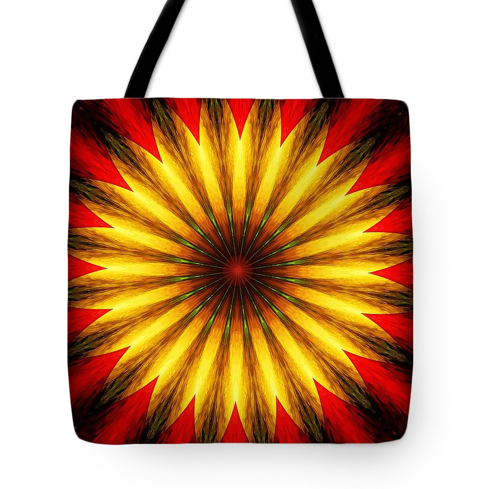 Floral Tote Bag featuring the digital art Digita Doodle 012211 by David Lane