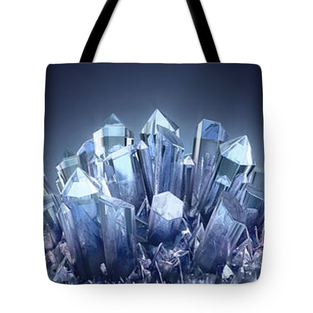 Tote Bag featuring the digital art Digital Art by Crystal Web Techs