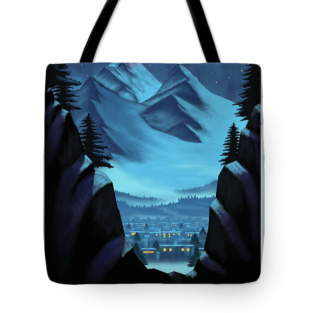 Tote Bag featuring the digital art Digital Painting by Brinda Domadia