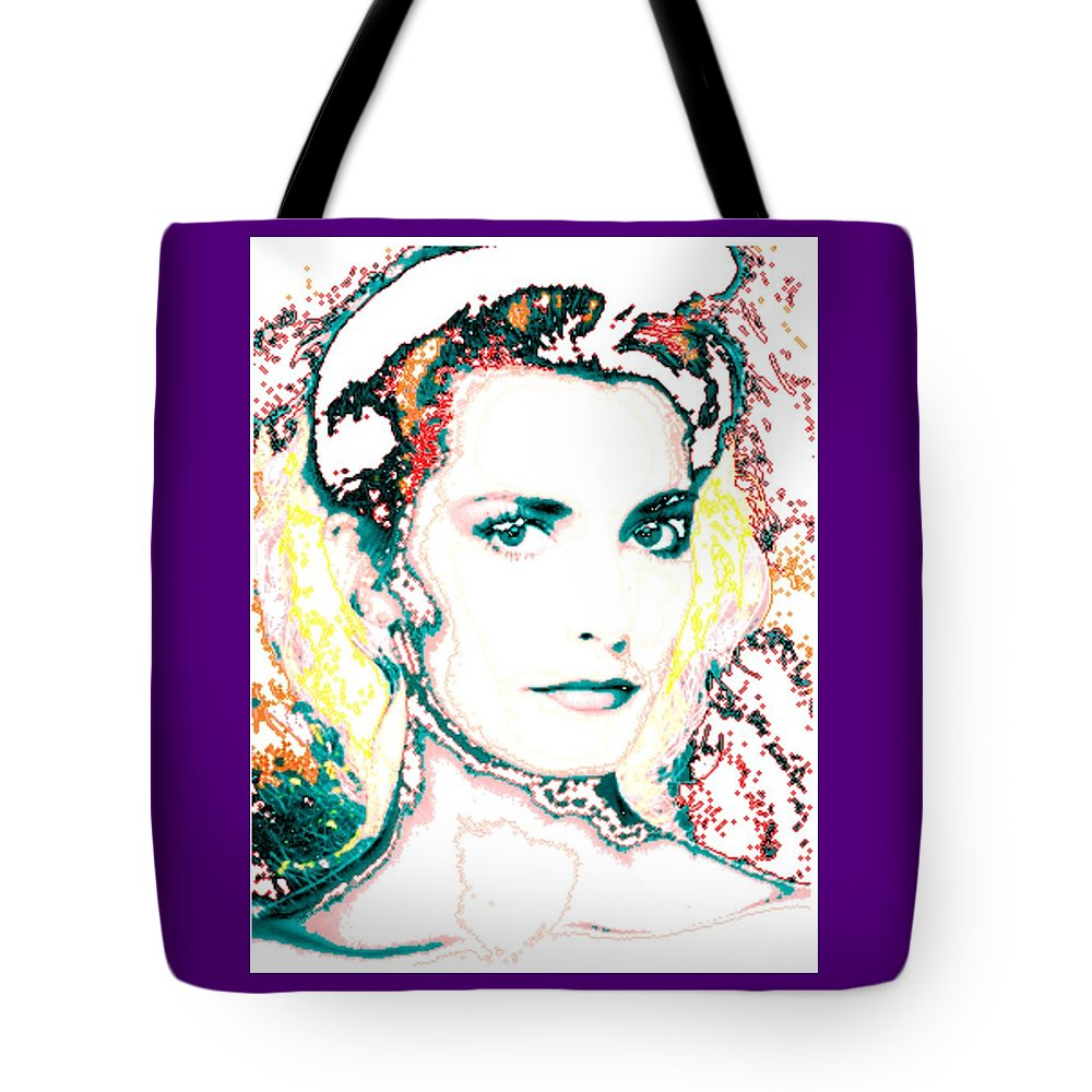 Digital Tote Bag featuring the digital art Digital Self Portrait by Kathleen Sepulveda