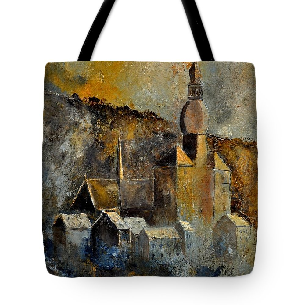Landscape Tote Bag featuring the painting Dinant 452190 by Pol Ledent