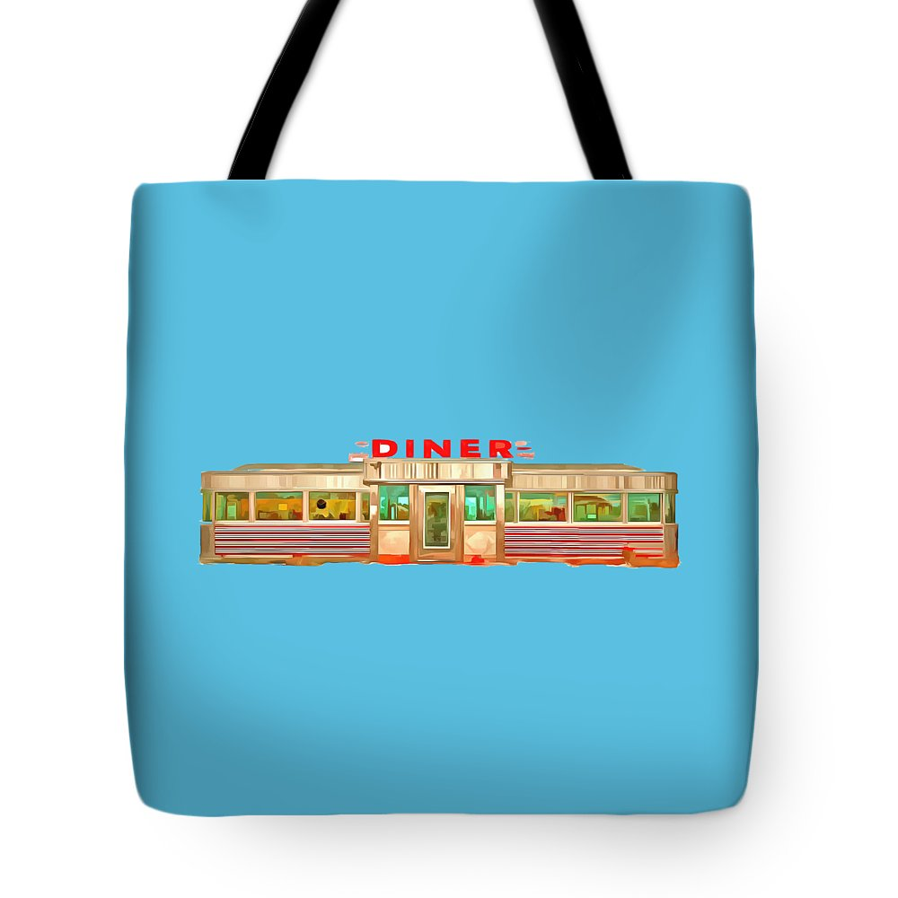 Vintage Tote Bag featuring the painting Diner Tee by Edward Fielding