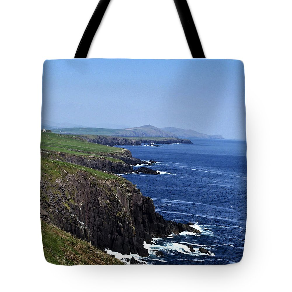 Irish Tote Bag featuring the photograph Dingle Coast Near Fahan Ireland by Teresa Mucha