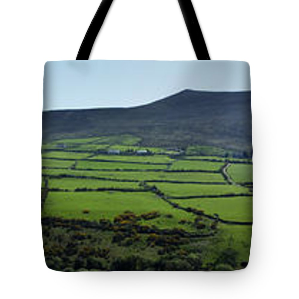 Irish Tote Bag featuring the photograph Dingle Peninsula Panorama Ireland by Teresa Mucha