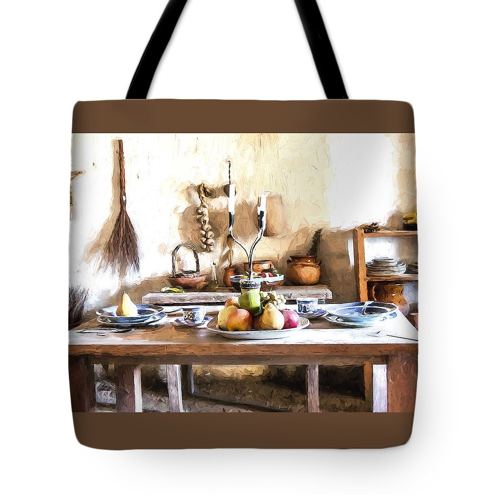 Table Tote Bag featuring the digital art Dinner Is Ready by Patricia Stalter