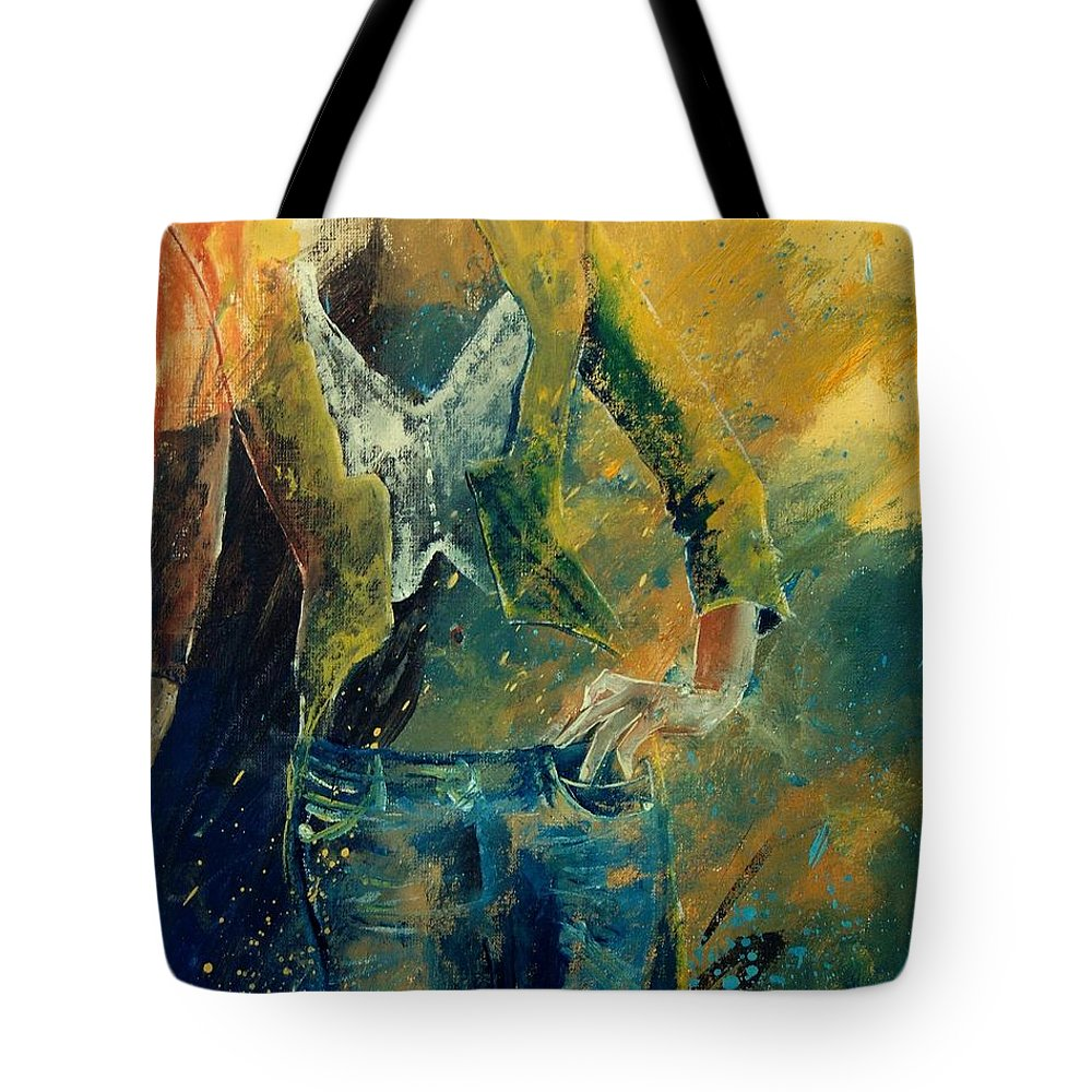 Woman Girl Fashion Tote Bag featuring the painting Dinner Jacket by Pol Ledent
