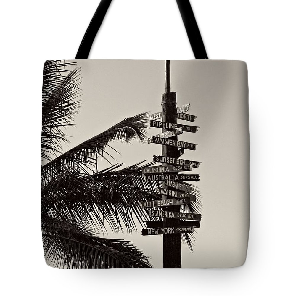 Hawaii Tote Bag featuring the photograph Directions by Nick Difi