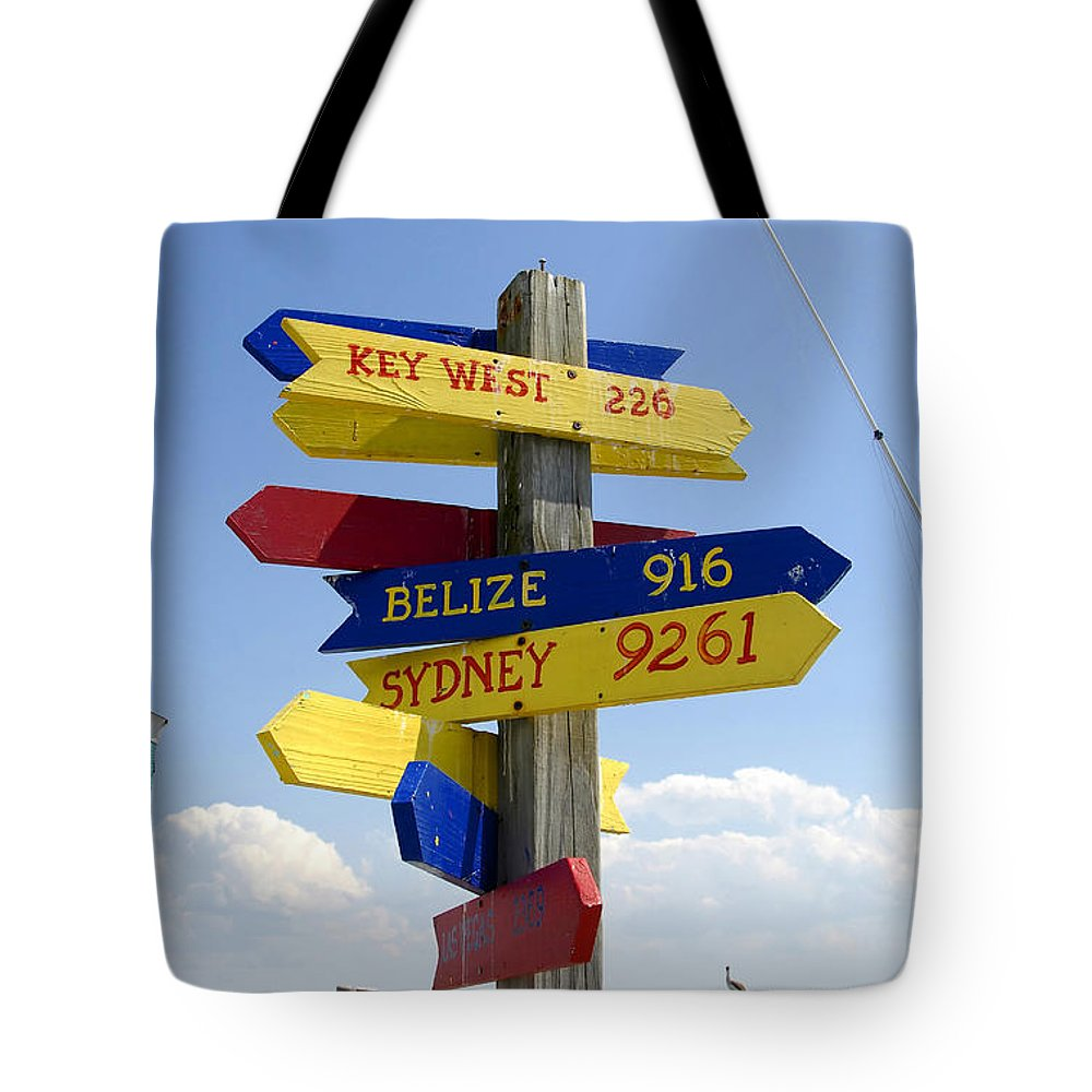 Paradise Tote Bag featuring the photograph Directions To Paradise by David Lee Thompson
