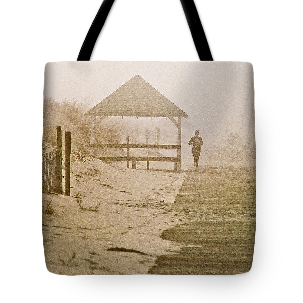 Landscape Tote Bag featuring the photograph Disappearance by Steve Karol