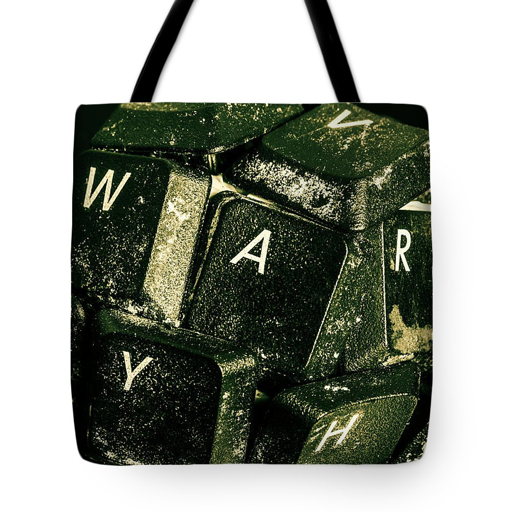 War Tote Bag featuring the photograph Disarming Of Weaponiised Words by Jorgo Photography - Wall Art Gallery