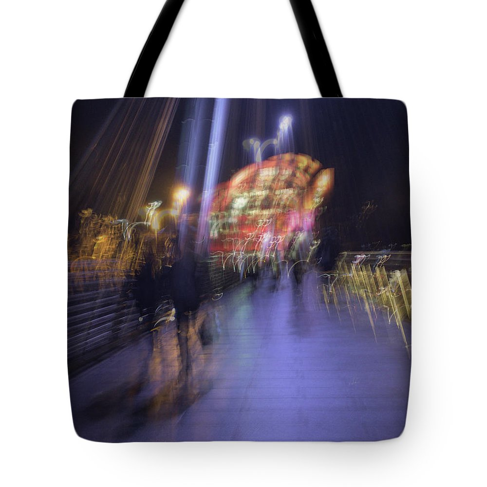 Night Tote Bag featuring the photograph Disassembly by Alex Lapidus