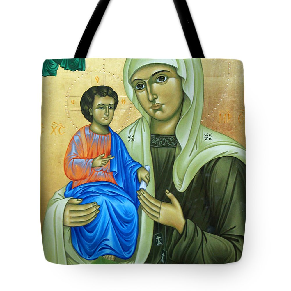 Baby Jesus Tote Bag featuring the photograph Discalced Carmelite Painting by Munir Alawi