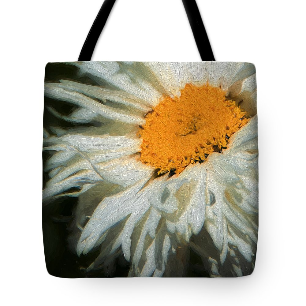 Daisies Tote Bag featuring the photograph Discovered 2 by Laura Macky