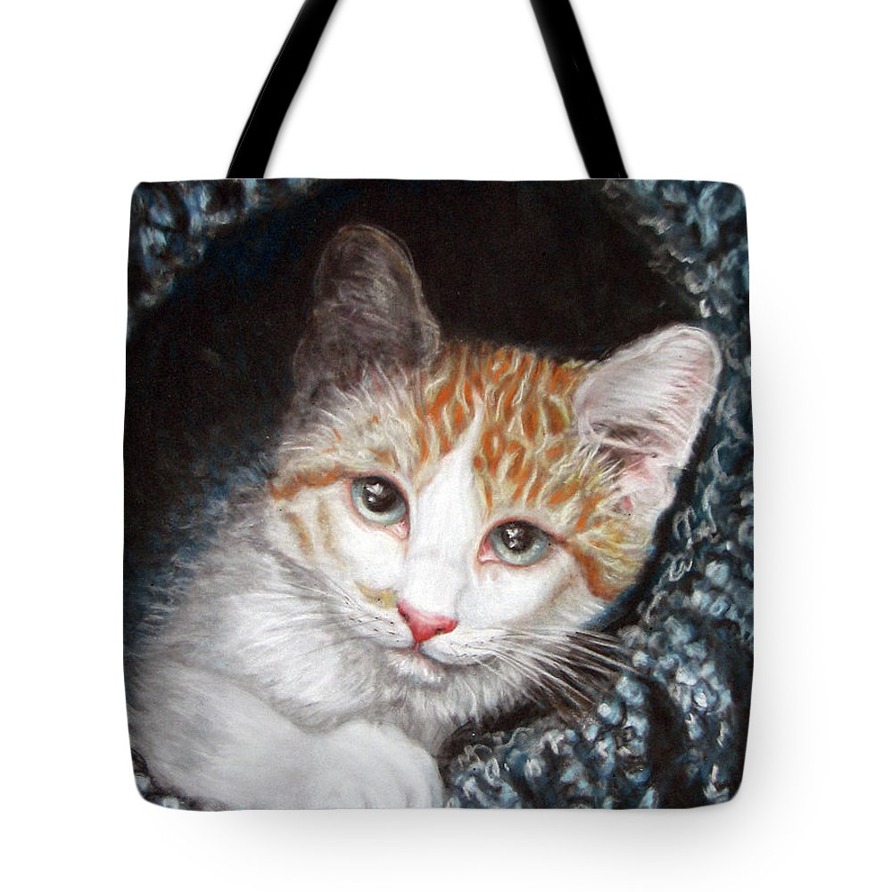 Pastels Tote Bag featuring the pastel Discovery by Beverly Fuqua