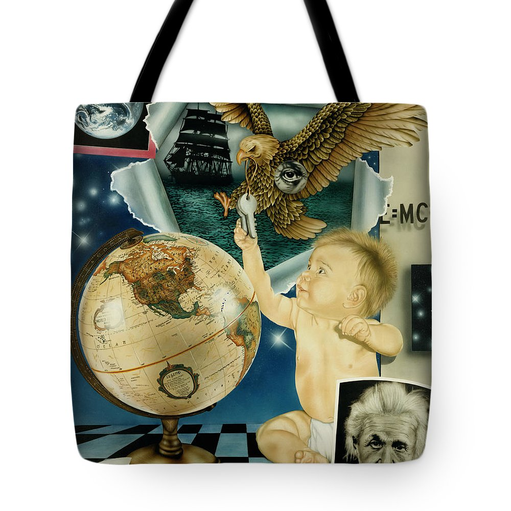 Realism Tote Bag featuring the painting Discovery Of The New World by Rich Milo