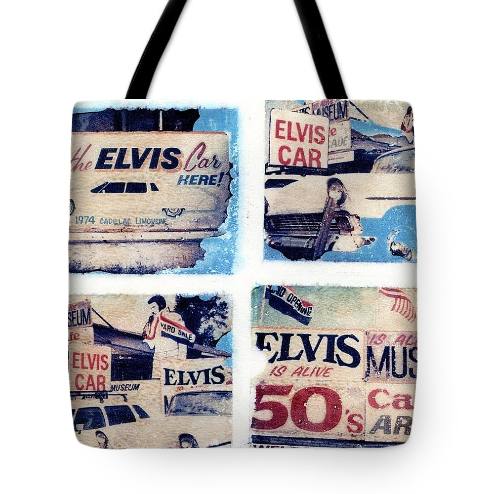 Elvis Tote Bag featuring the photograph Disgraceland by Jane Linders