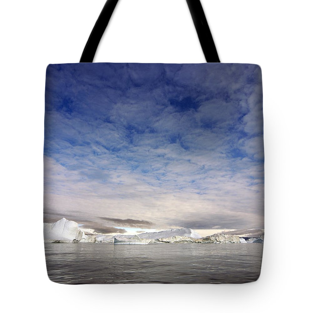 Greenland Tote Bag featuring the photograph Disko Fjord Greenland by Robert Lacy