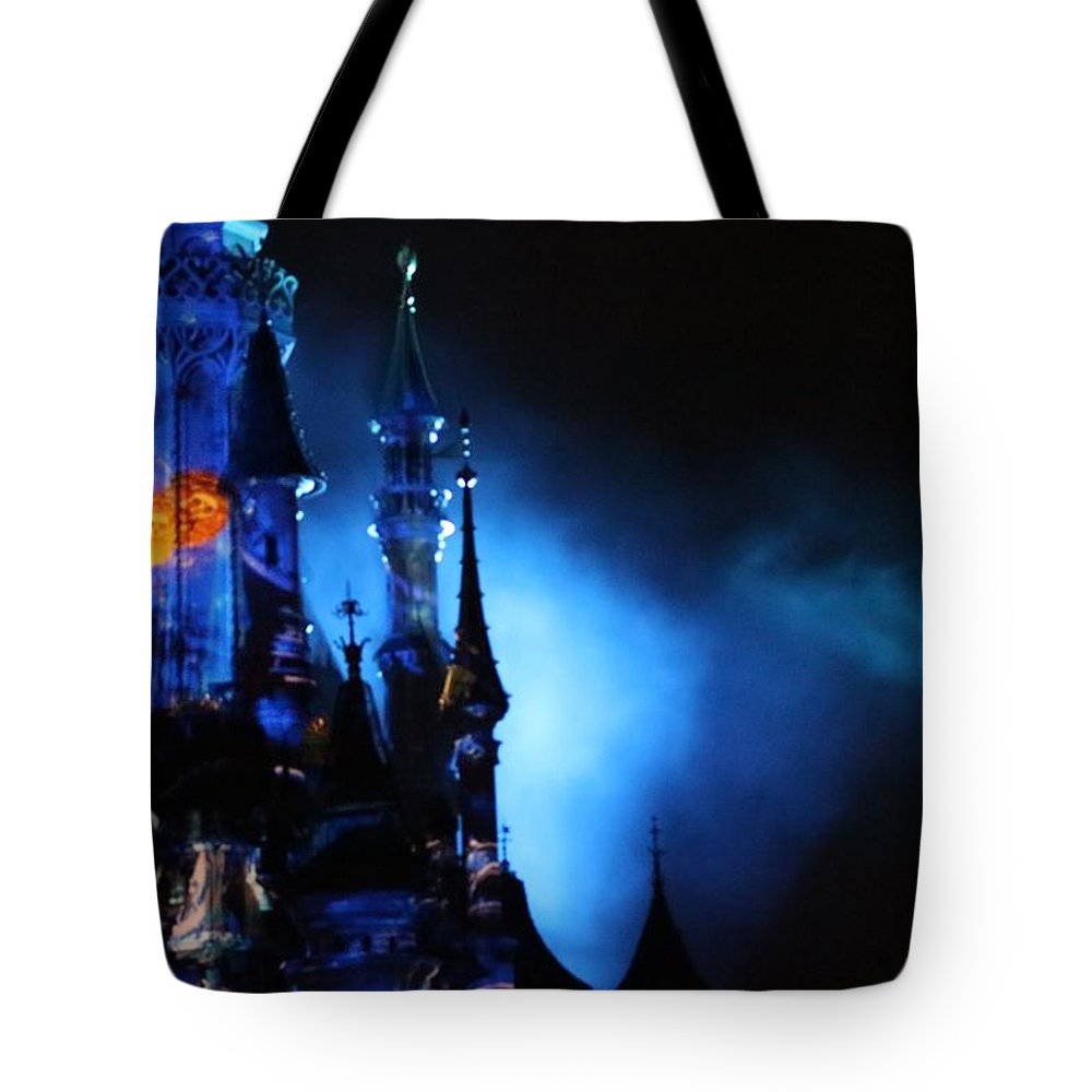Darknight Tote Bag featuring the photograph Disney Blues At Night by Navya Saini