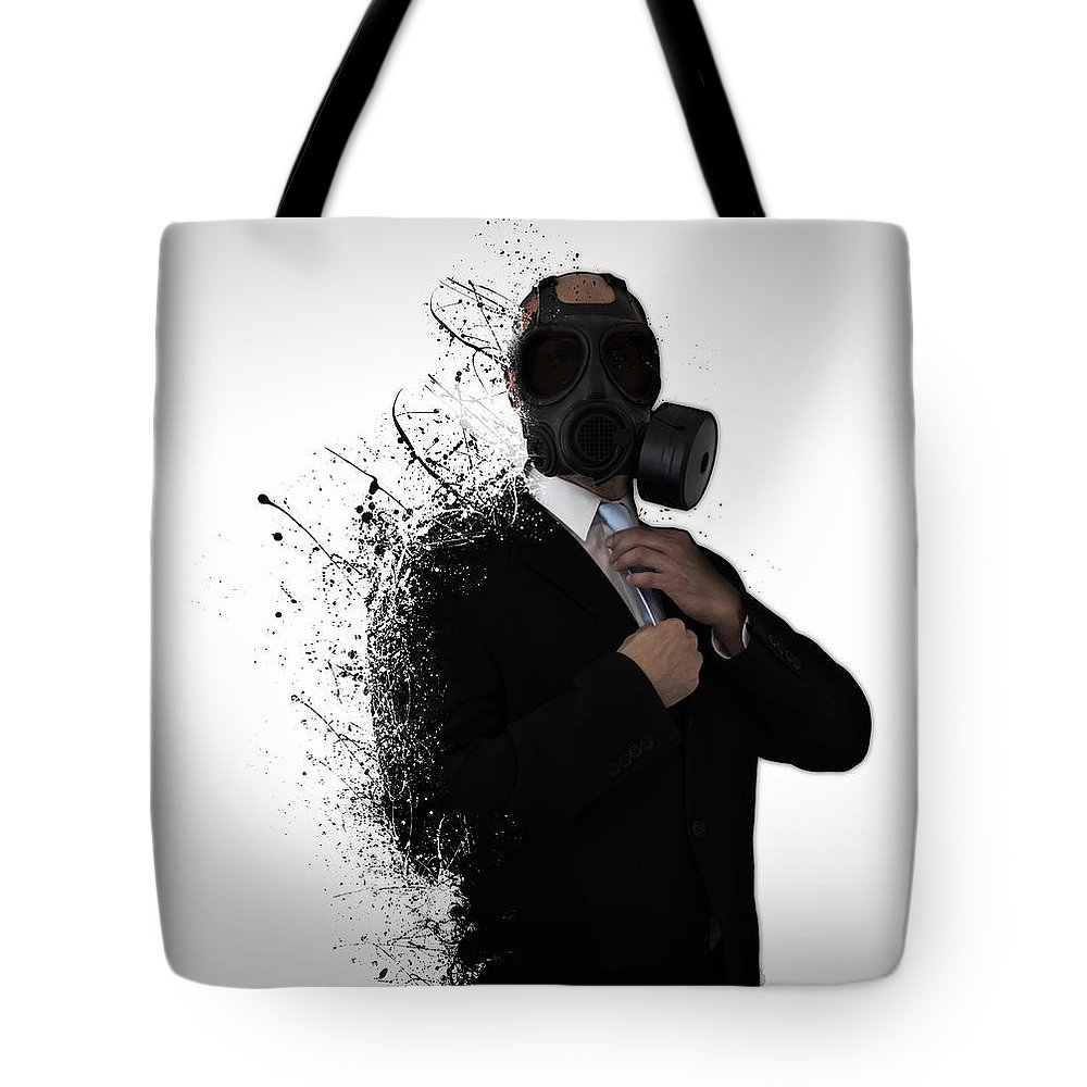 Gas Tote Bag featuring the photograph Dissolution of man by Nicklas Gustafsson