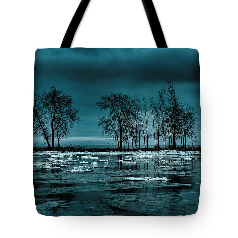 Lake Huron Tote Bag featuring the photograph Distorted Reflections by Kristin Hunt