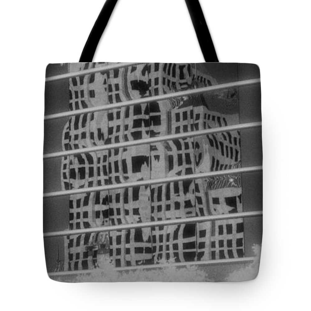 Distorted Tote Bag featuring the photograph Distorted Views by Richard Rizzo