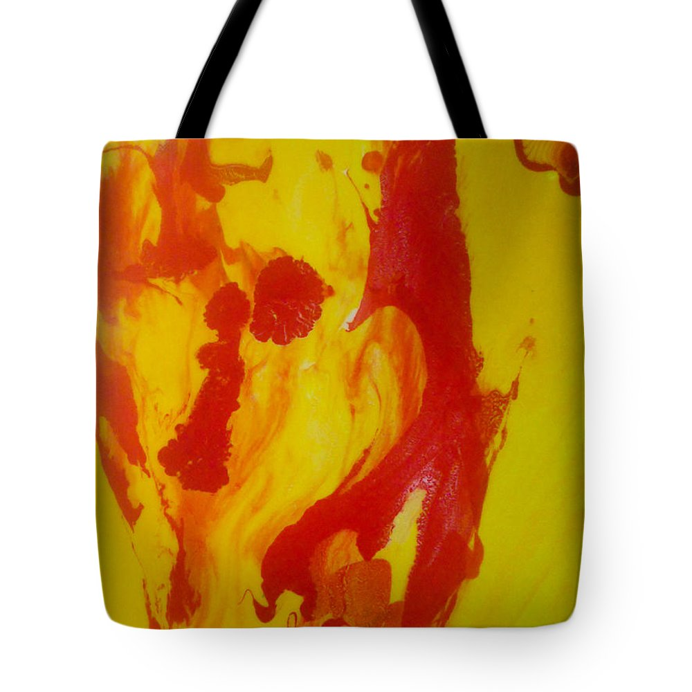 Abstract Tote Bag featuring the painting Distortion by Elle Justine
