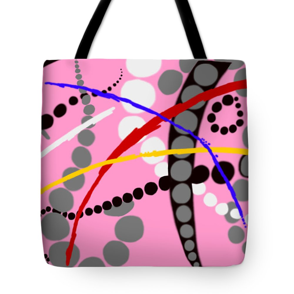 Abstract Tote Bag featuring the digital art Ditty by Christopher Rowlands