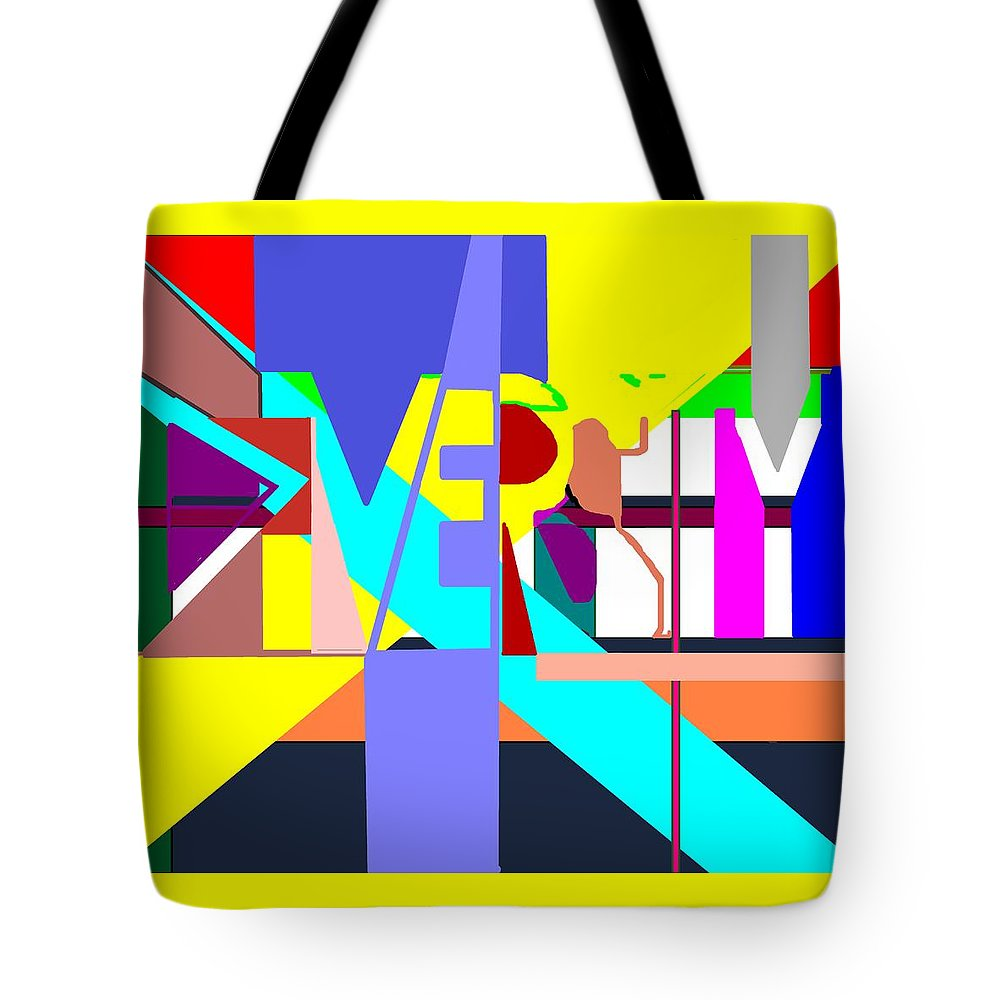 Diversity Tote Bag featuring the digital art Diversity Enmeshed by Pharris Art