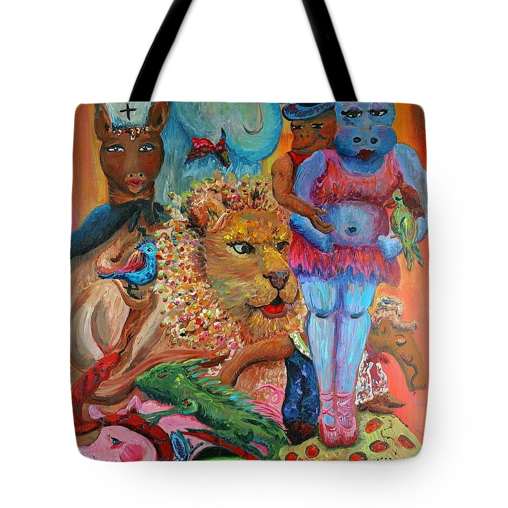 Diversity Tote Bag featuring the painting Diversity by Nadine Rippelmeyer