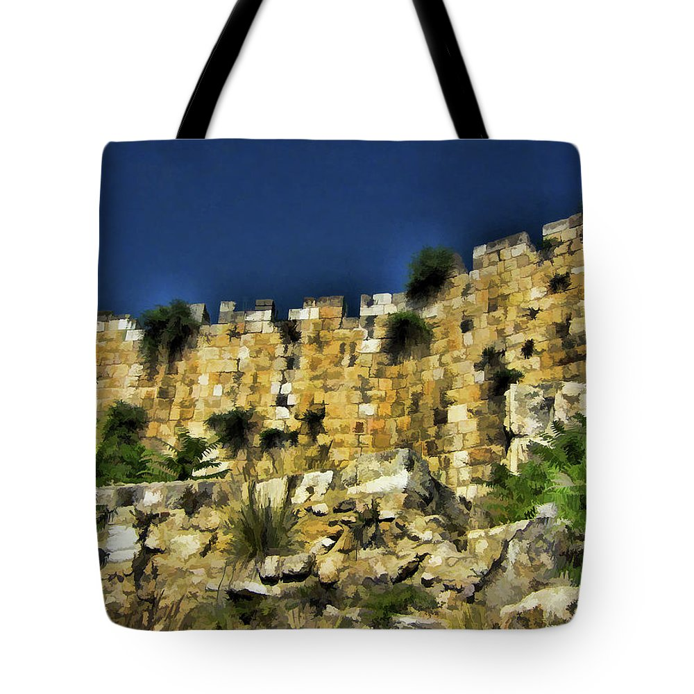 Stonewall Tote Bag featuring the photograph Divide Between Old And New by Douglas Barnard