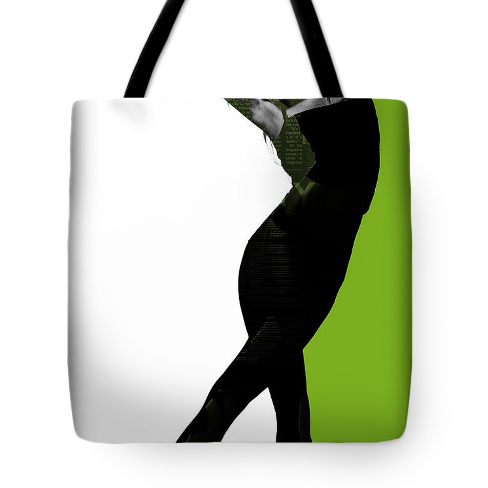 Passionate Tote Bag featuring the digital art Divided by Naxart Studio