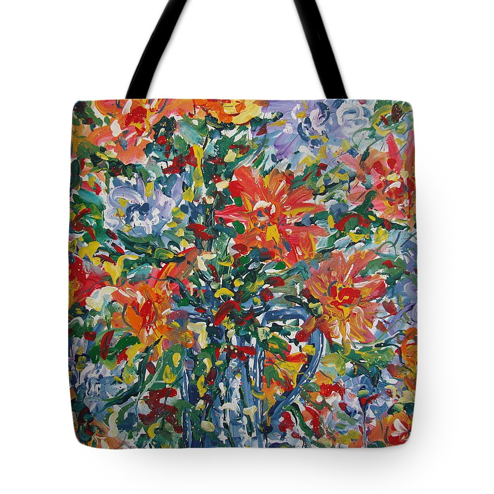 Painting Tote Bag featuring the painting Divine Happiness. by Leonard Holland